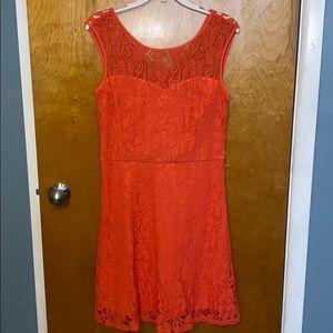 HALO   Orange Lace Dress